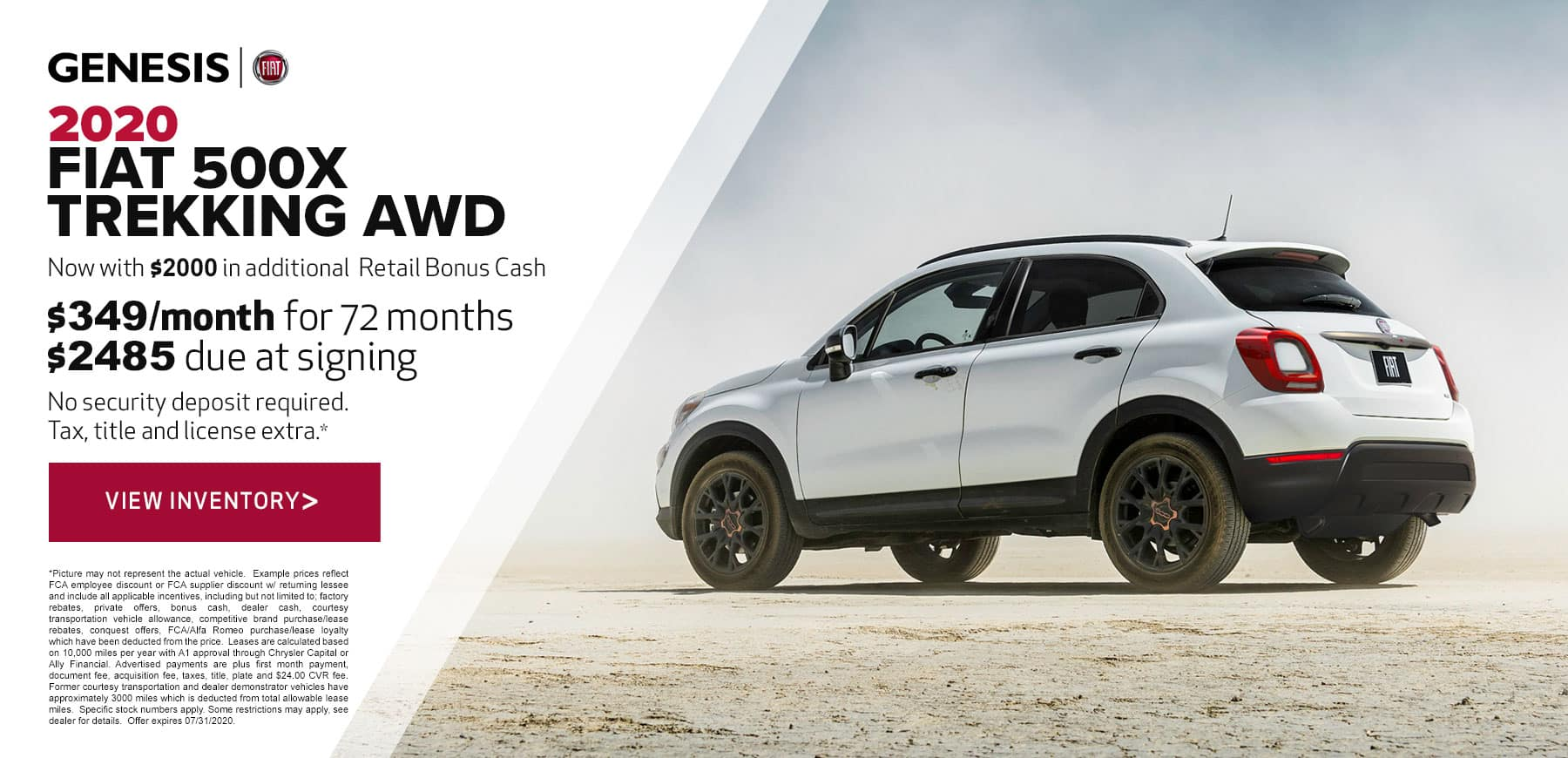 Genesis FIAT July 2020 500X Trekking Retail Offer