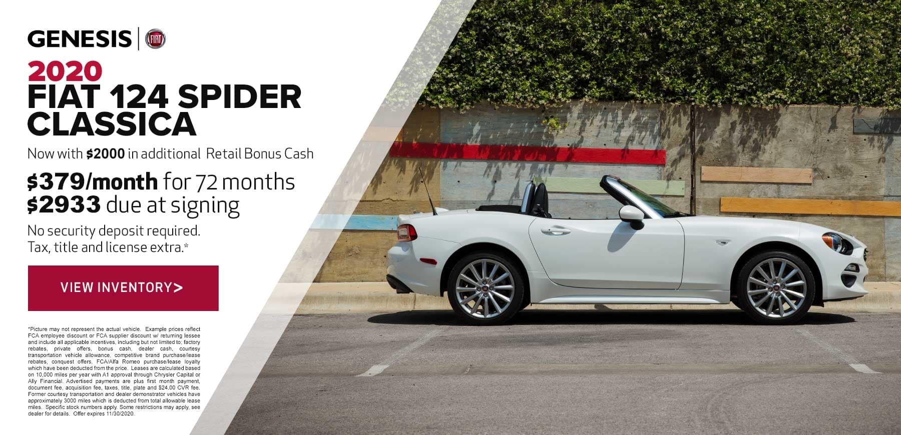 Genesis FIAT 124 Spider Classica November 2020 Purchase Offer