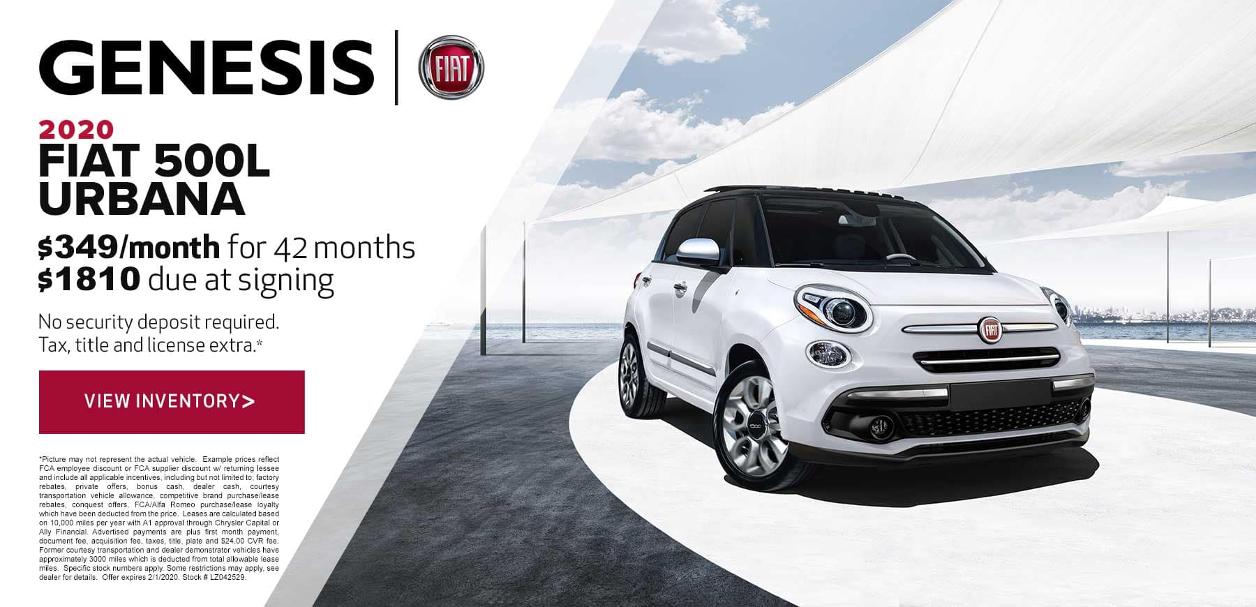 Genesis FIAT January 2021 500L Urbana Trekking Lease Offer