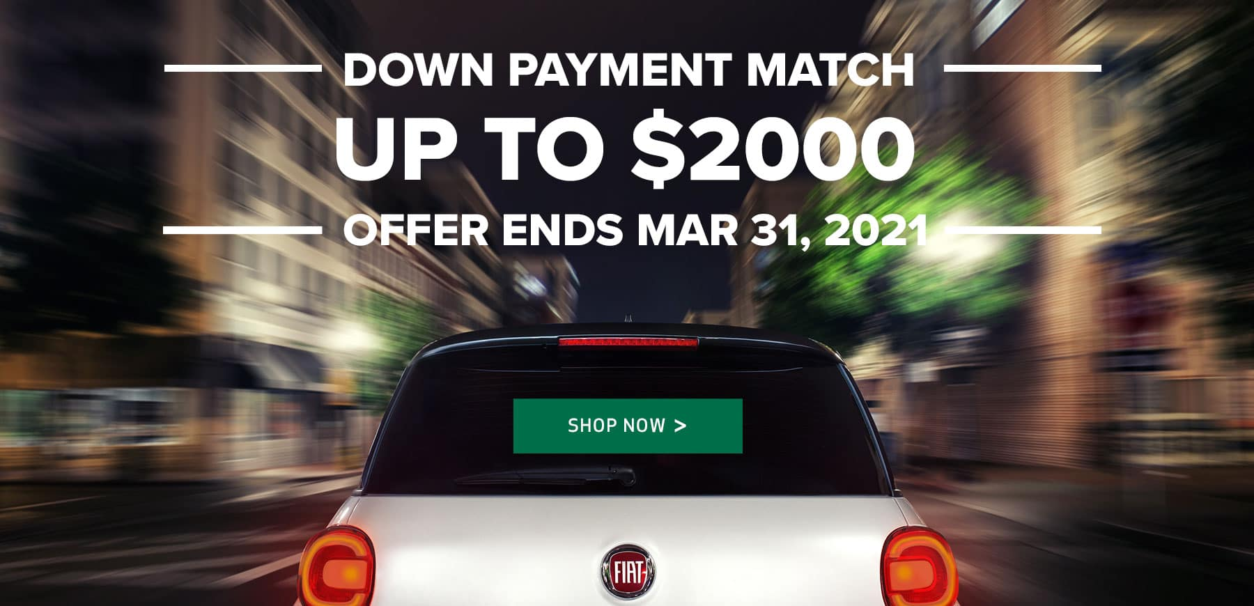 Alt Text: Genesis FIAT Down Payment Match March 2021