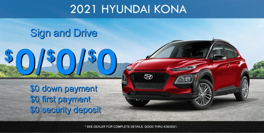 SPECIAL New 2021 Hyundai Kona