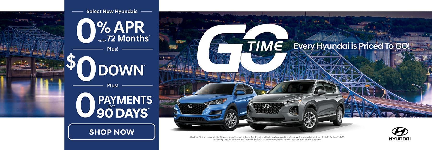 GO TIME - Select New Hyundais
