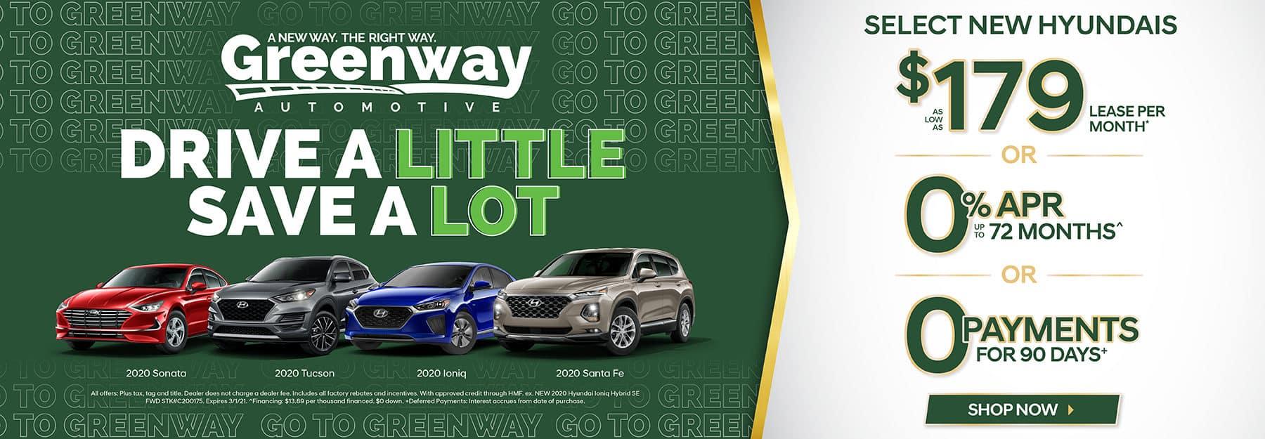 Select New Hyundais - Drive a Little Save a Lot!