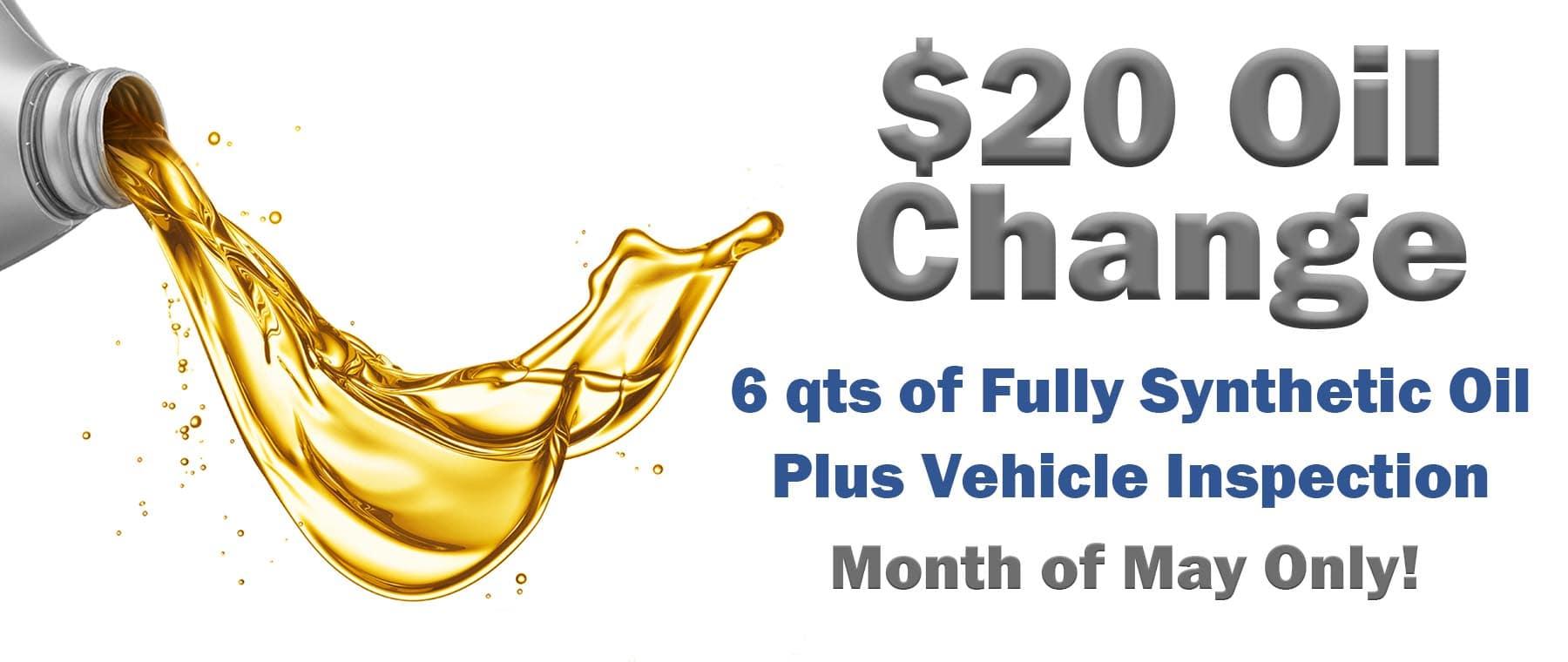 $20 Oil Change – DI Hero Ad