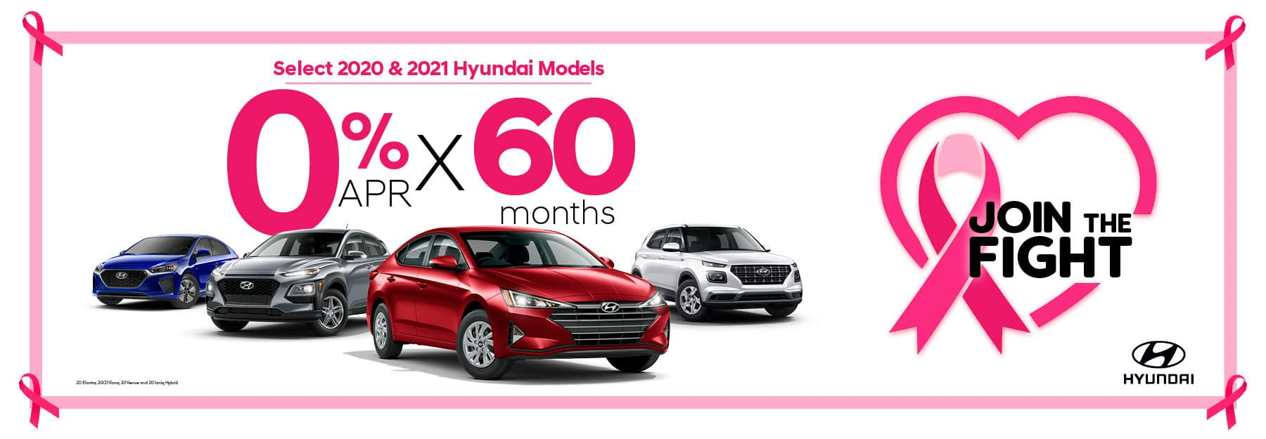 0% APR by 60 months on Select Hyundai Models