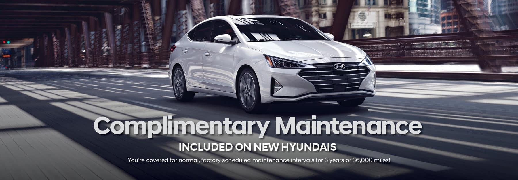 Complimentary Maintenance Included on New Hyundais