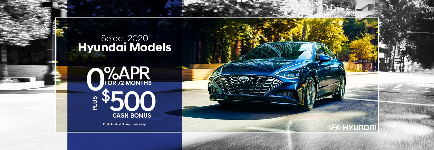 0% APR for 72 months plus $500 on select 2020 models