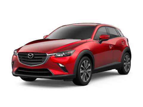 Angled view of the Mazda CX-3