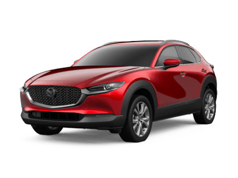 Angled view of the Mazda CX-30