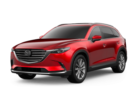 Angled view of the Mazda CX-9