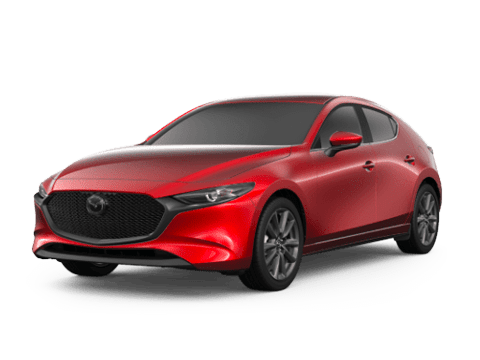 Angled view of the Mazda3 Hatchback