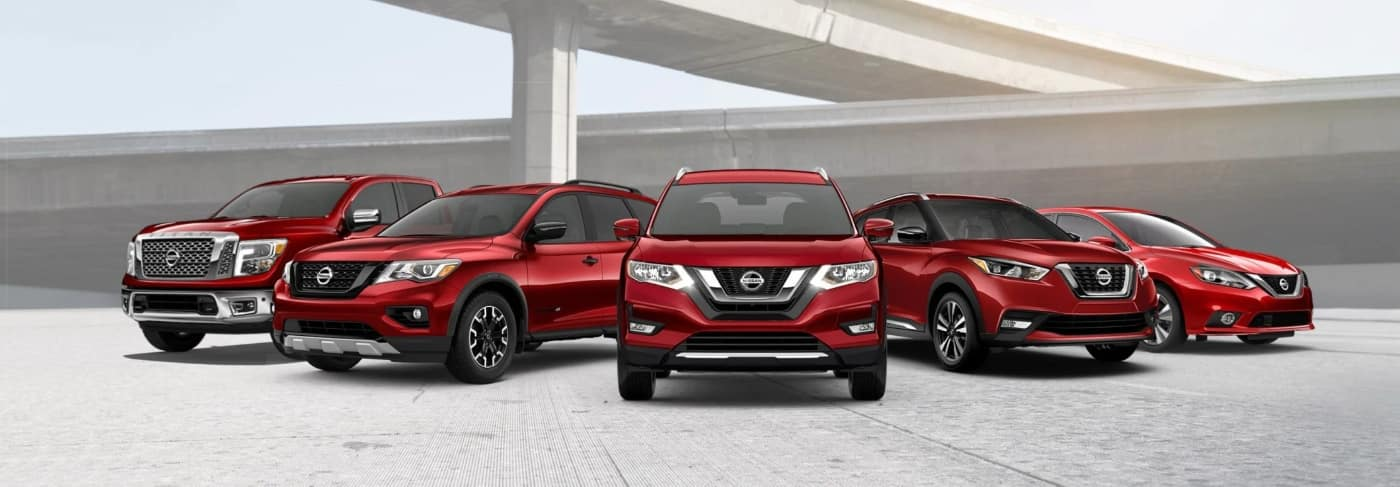 Red Nissan Model Lineup