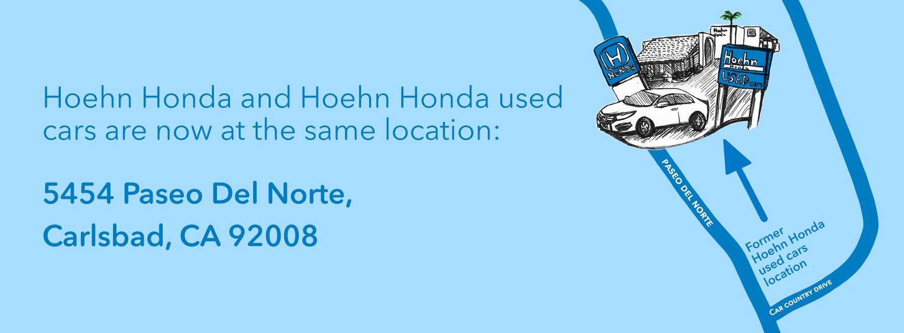Used car location change