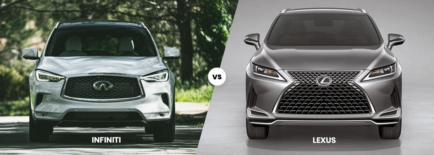 Side by side comparison of INFINITI vs. Lexus Cars