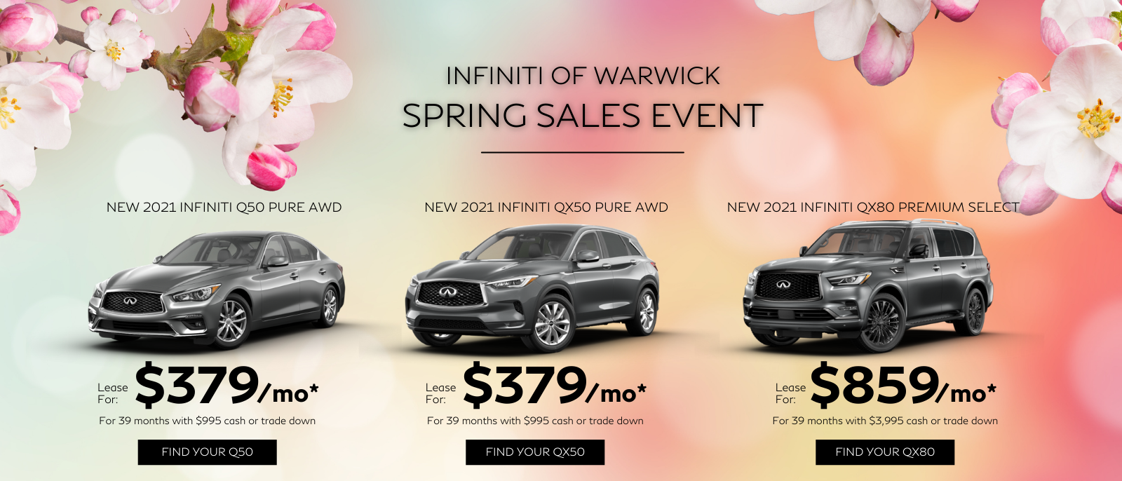 INFINITI OF WARWICK SPRING SALES EVENT