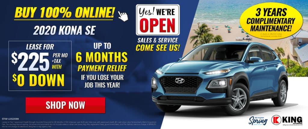 2020 Hyundai Kona SE Lease for $225 per mo/ $0 Down !