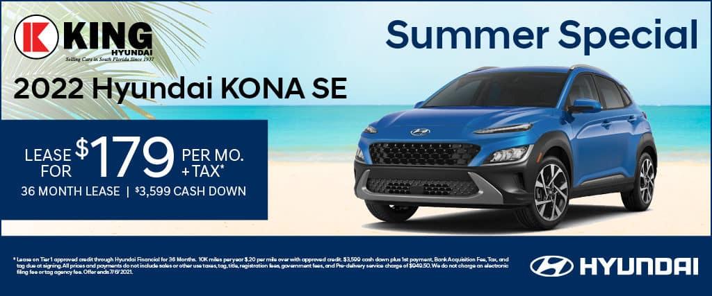 Lease A 2022 Hyundai Kona SE