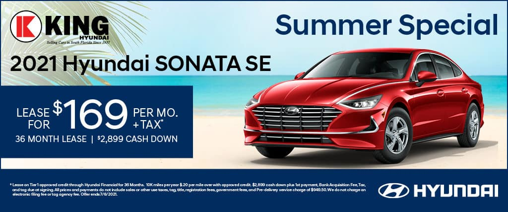 Lease A 2021 Hyundai Sonata SE