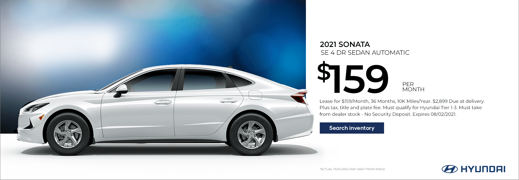 Lease a New 2021 Sonata SE for $159/Month for 36 Months