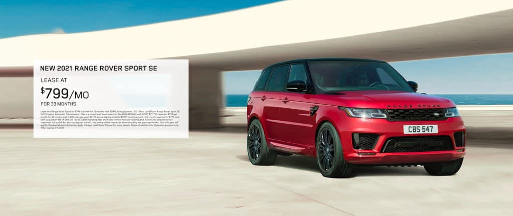 2021 Range Rover Sport HSE - Lease for $799/mo.
