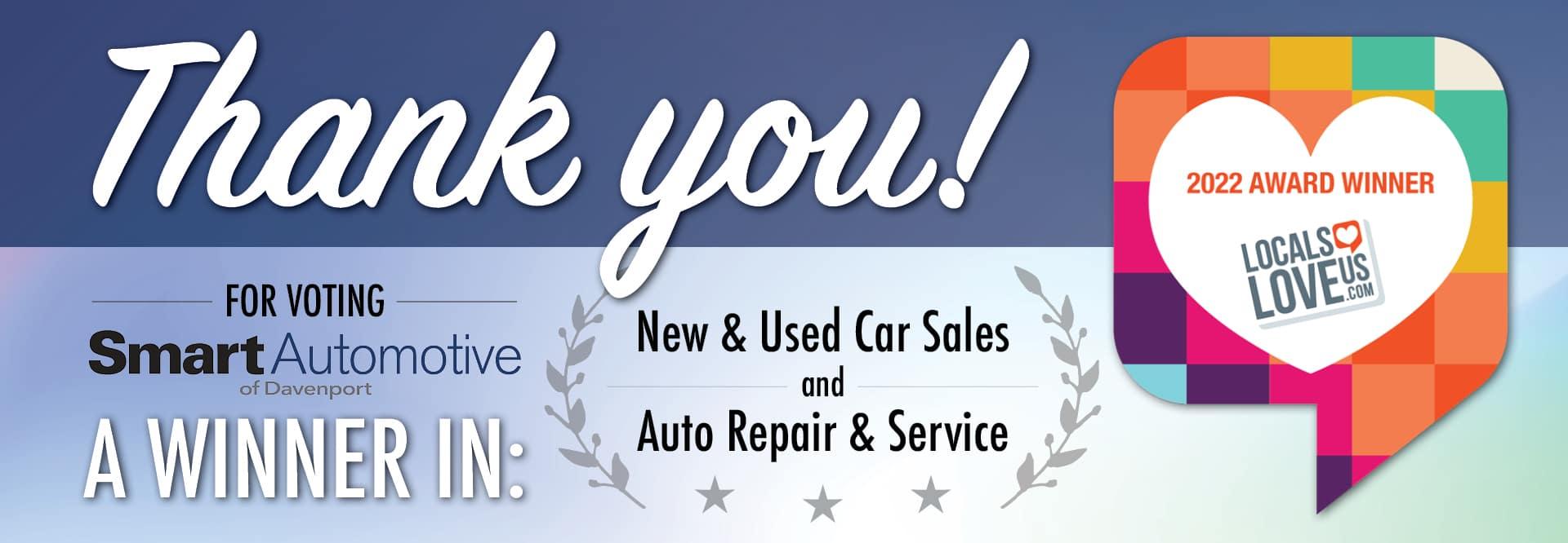 Voted Winner in Sales & Service