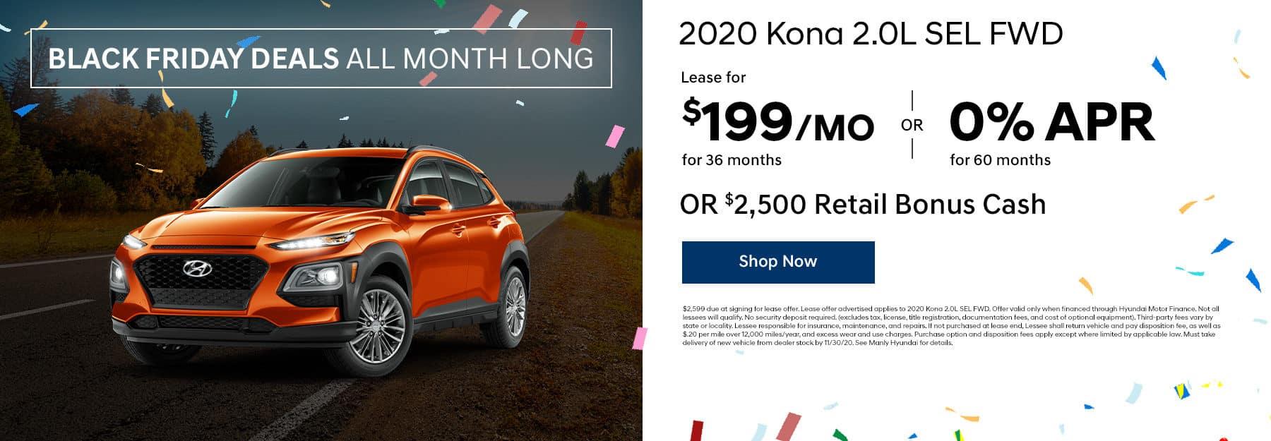 2020 kona 2.0L SEL offers