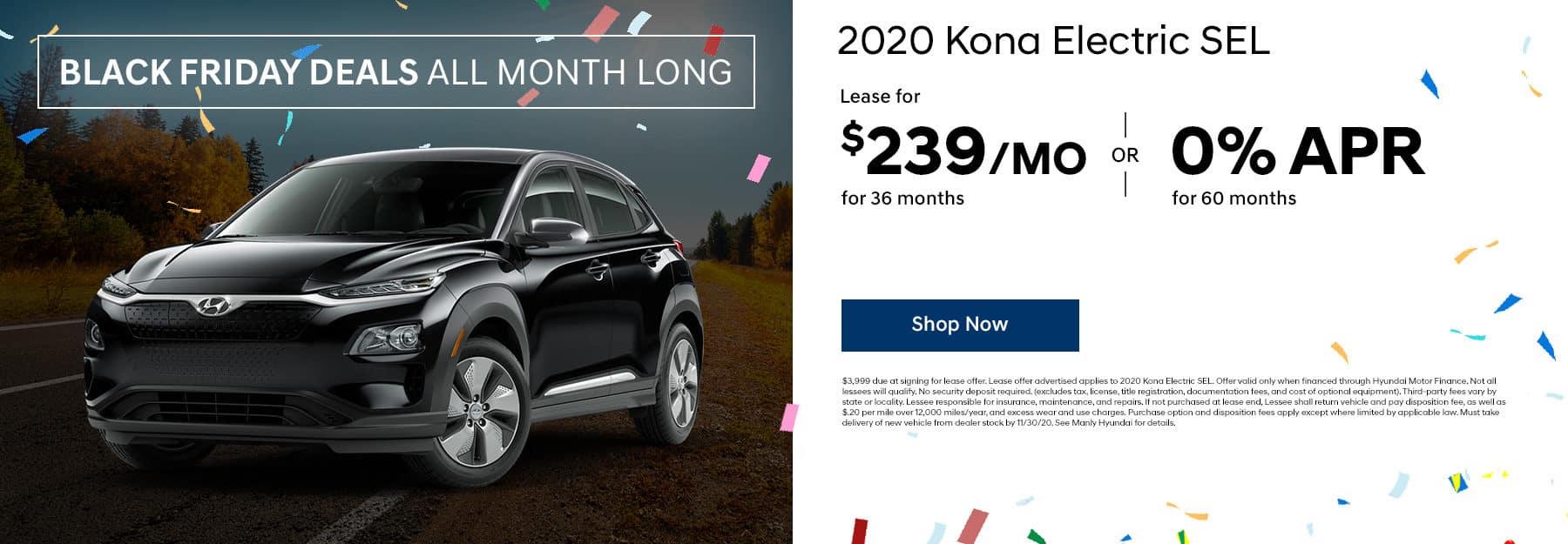 2020 Kona Electric Lease offer