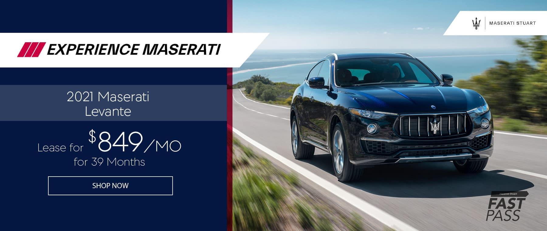 black blue 2021 Maserati Levante