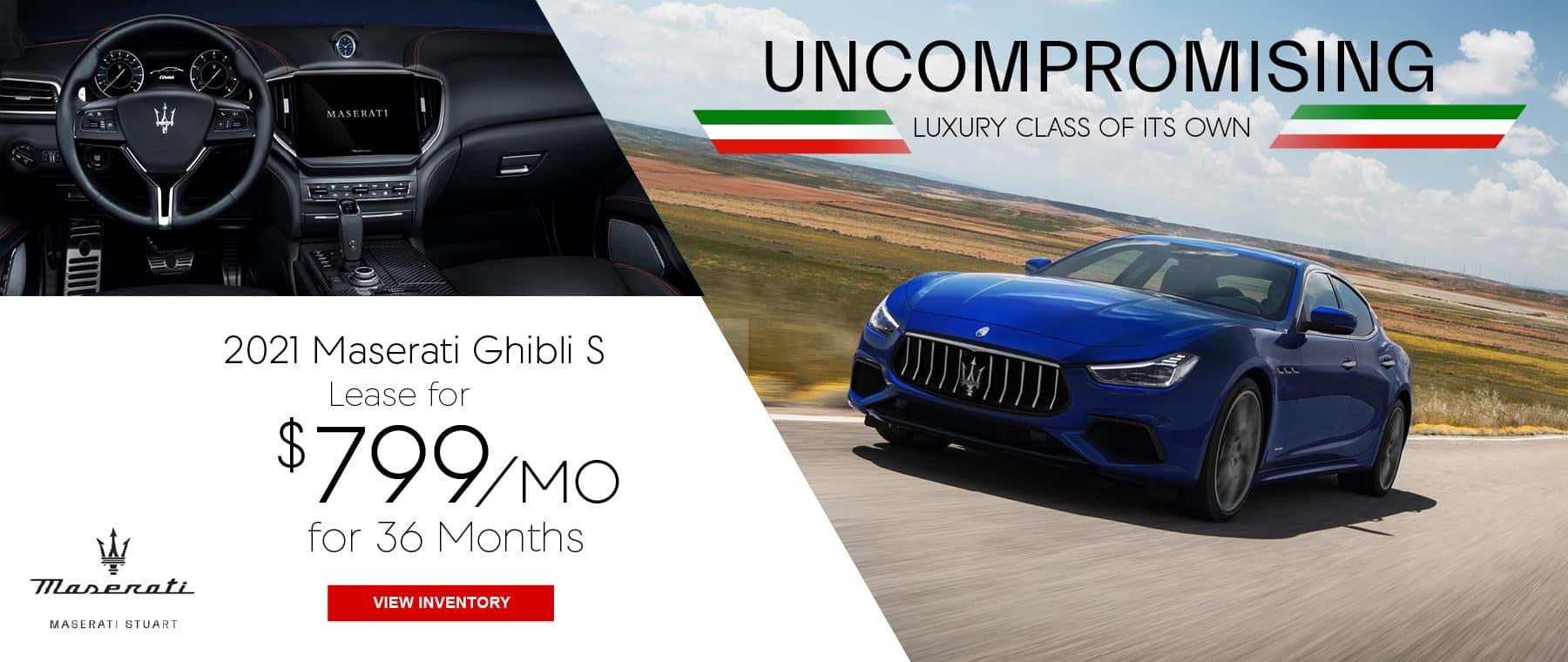blue 2021 Maserati Ghibli