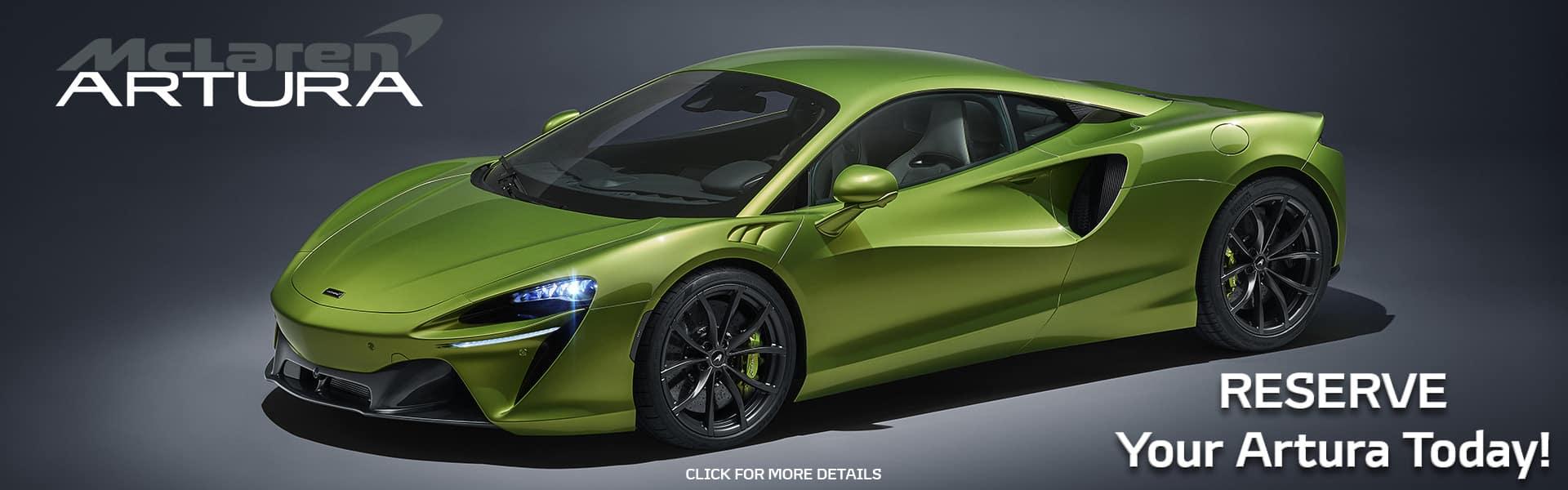 Reserve Your 2022 McLaren Artura Today!