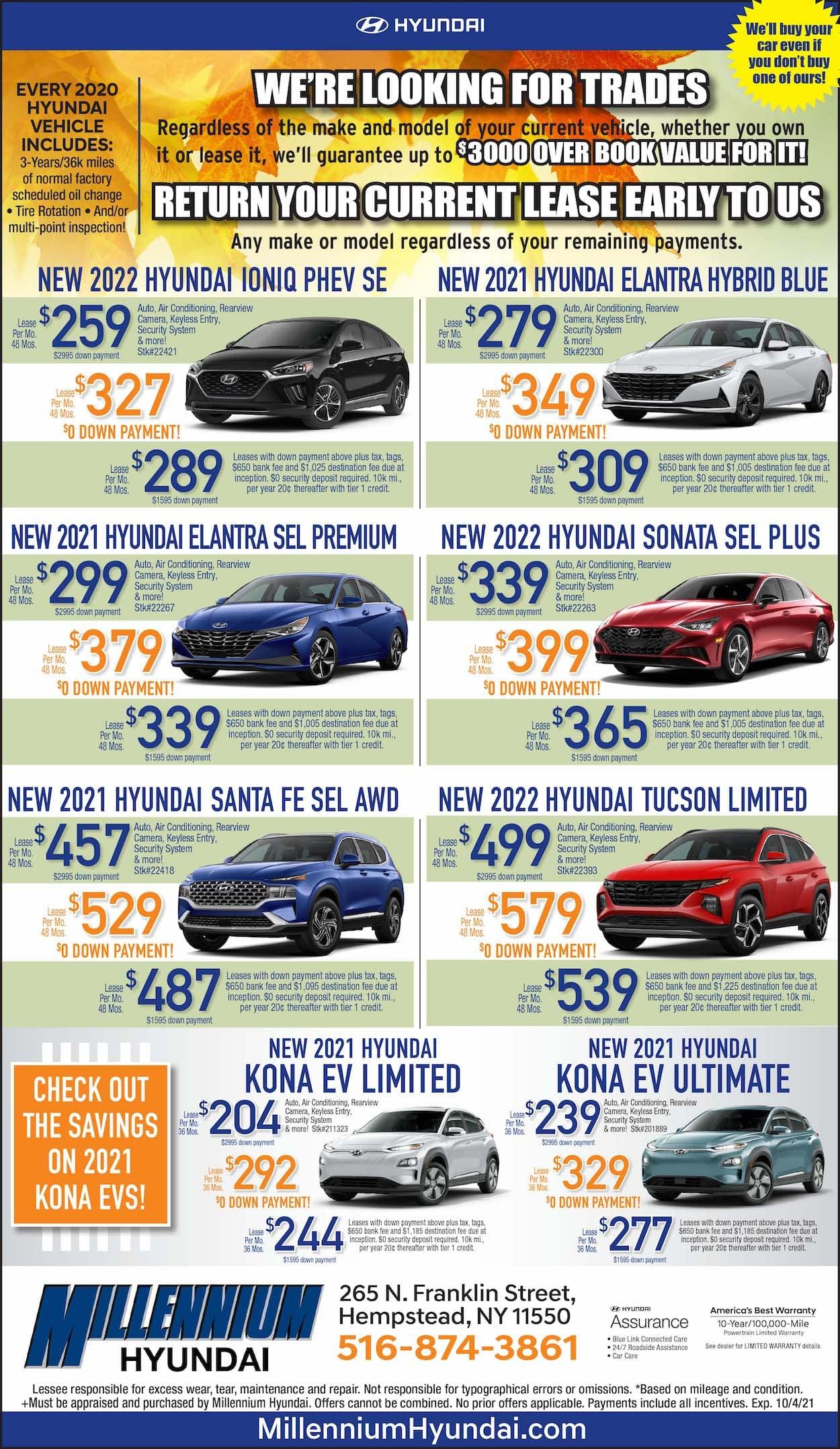 Millennium Hyundai Lease Offers