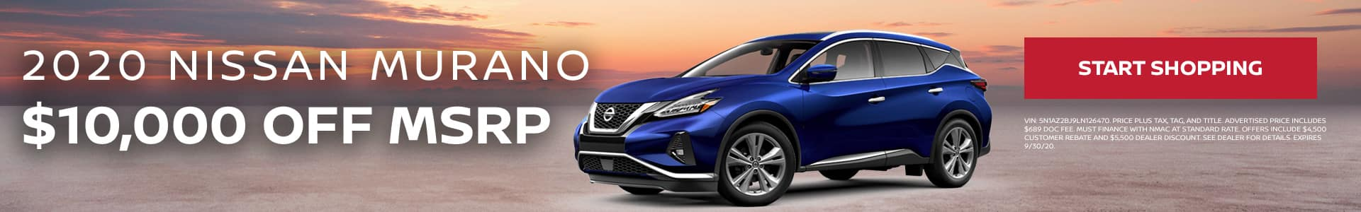2020 Nissan Murano - $10,000 off MSRP