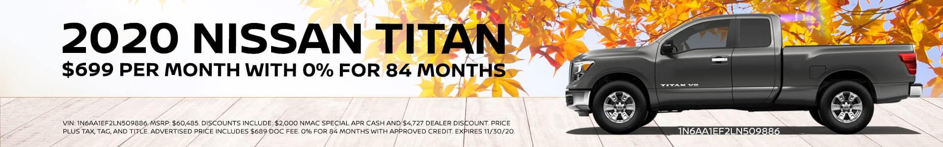 2020 Nissan Titan Special
