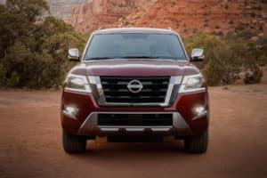 all new nissan armada front view