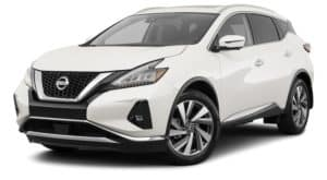 A white 2021 Nissan Murano is angled left.
