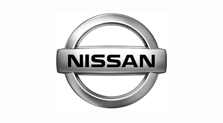 The Nissan emblem is on a white background.