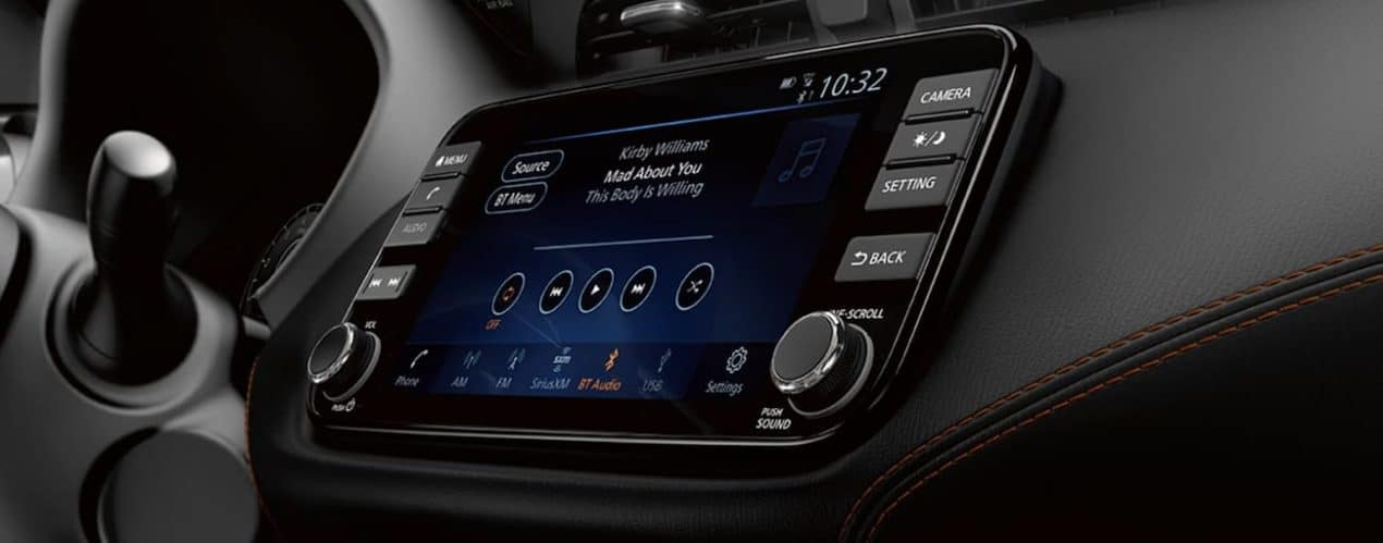 The screen in a 2021 Nissan Kicks is shown.