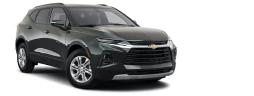 A black 2021 Chevy Blazer 2LT is angled right.