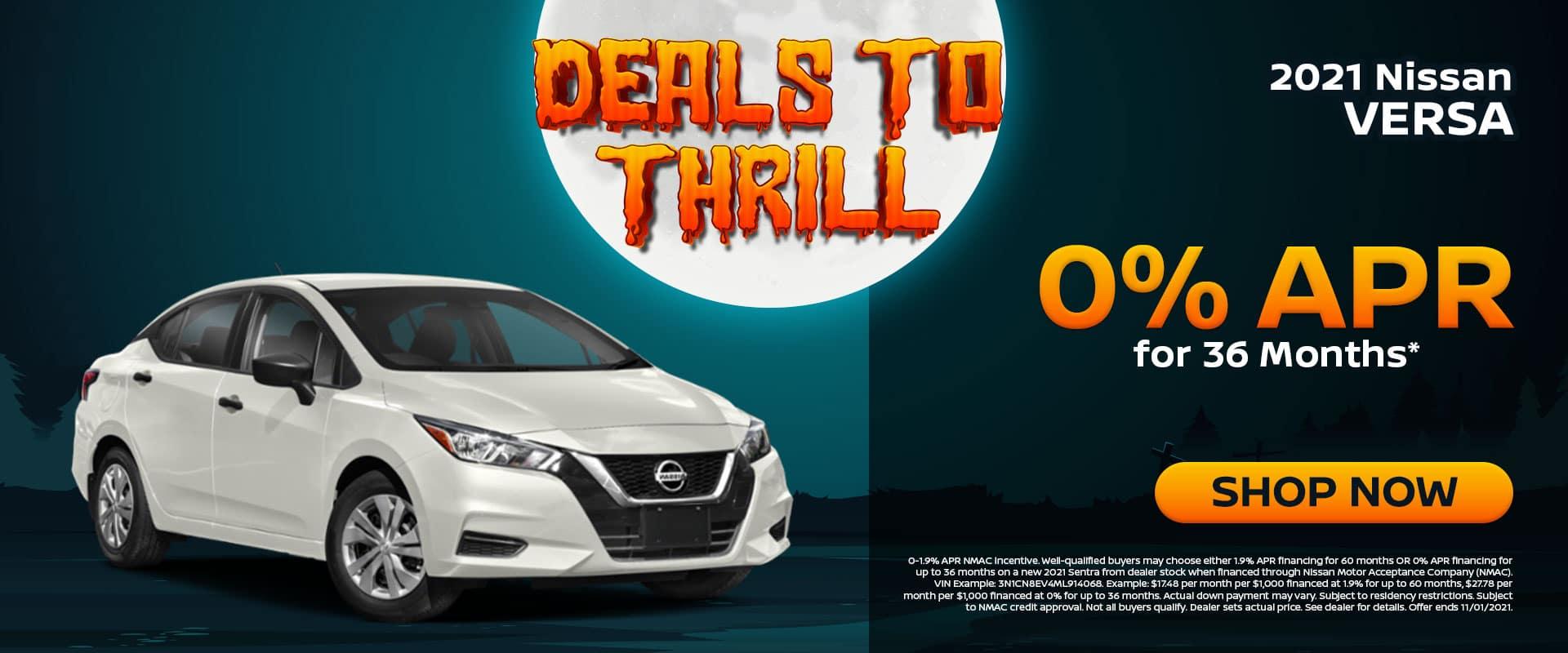 2021 Nissan Versa Offer in Greenville, TX