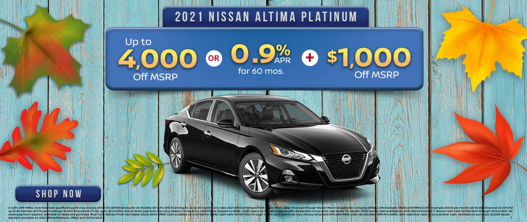 2021 Nissan Altima Offer in Greenville, TX