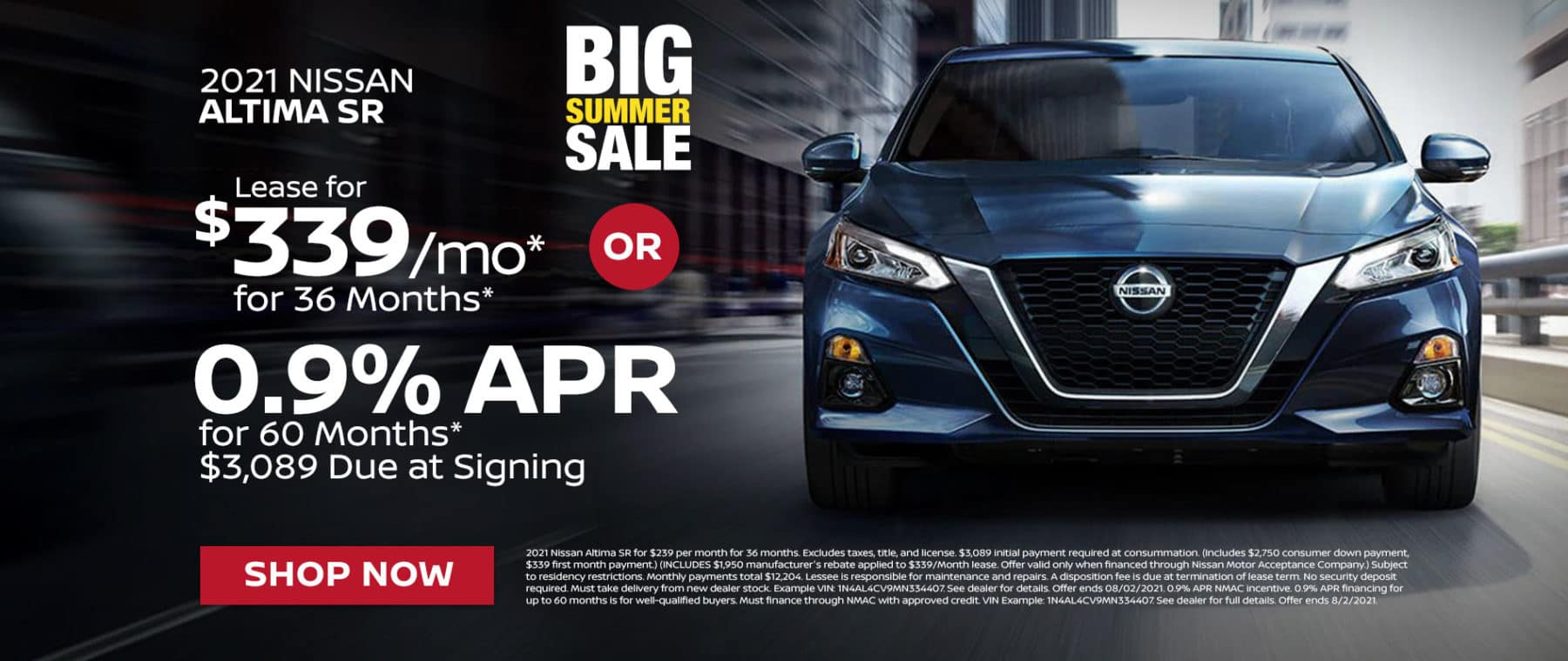 2021 Nissan Altima SR For Sale In Greenville