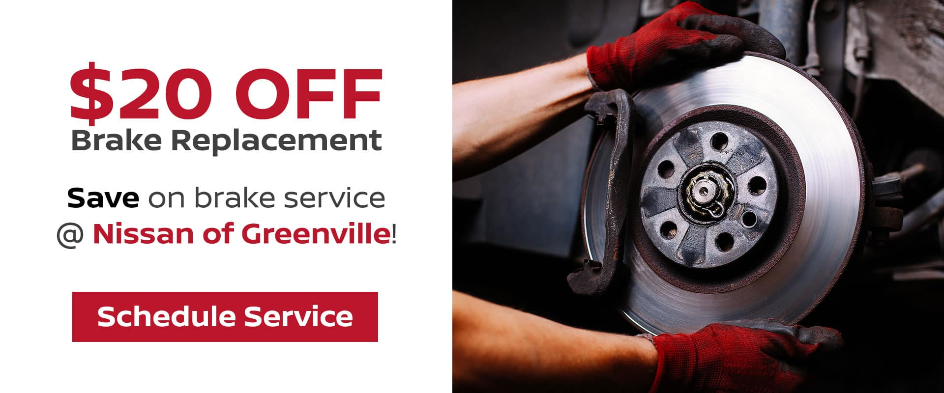 $20 Off Brake Replacement Service in Greenville