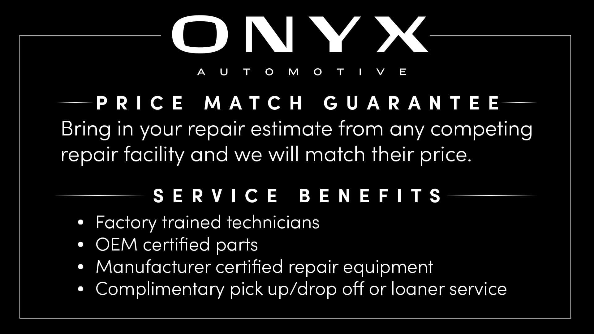 onyx price match guarantee tv
