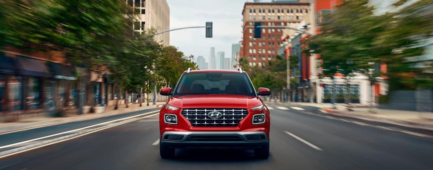 Red 2020 Hyundai Venue