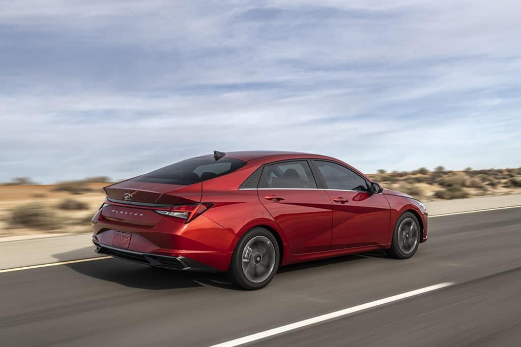 2021 Hyundai Elantra in red
