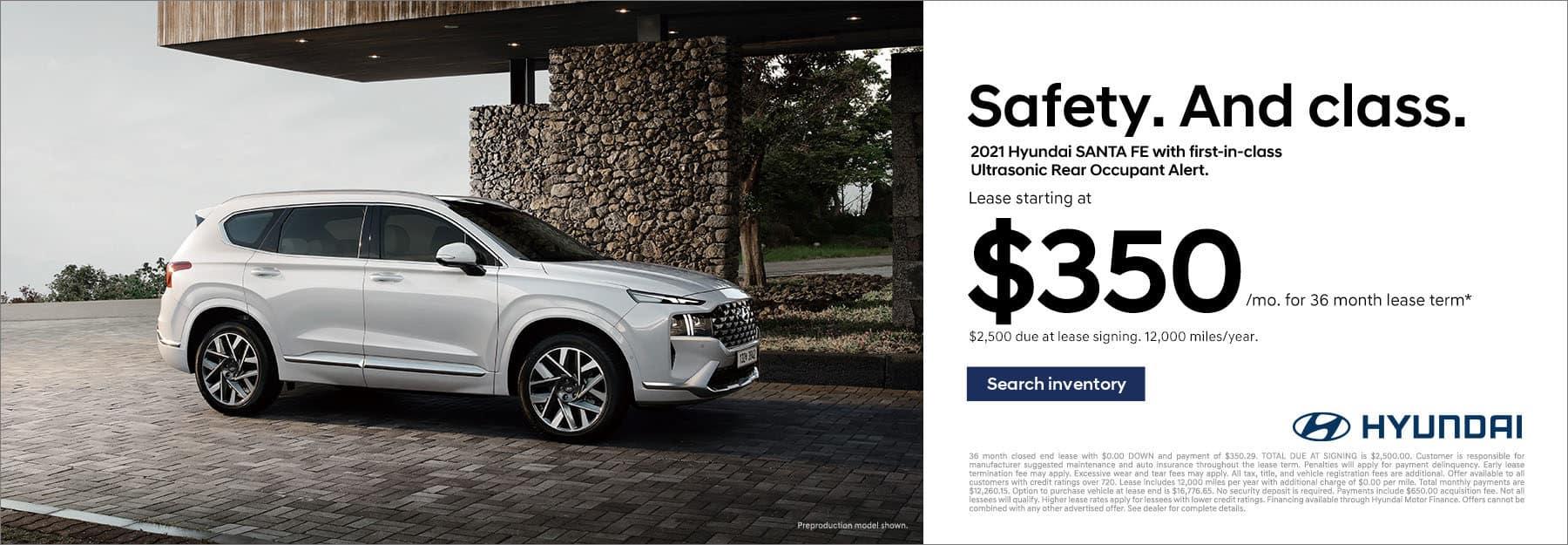 2021 Hyundai Santa Fe Lease Offer