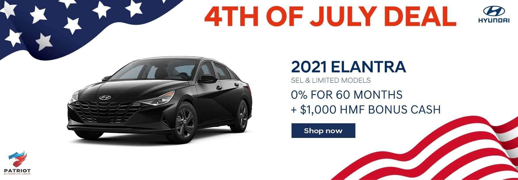 4th of July Elantra Special Deal