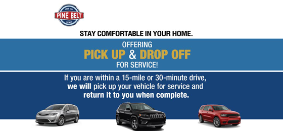 Pine Belt Offers Pick Up Drop Off Vehicle Service Appointments Near Lakewood NJ