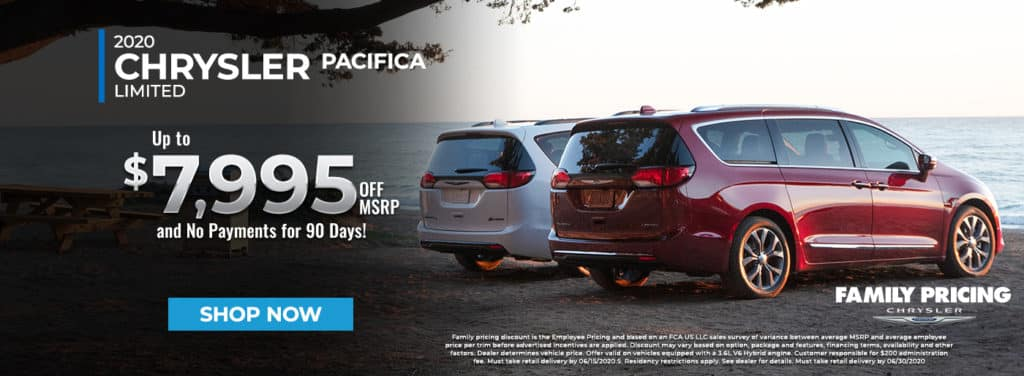 2020 Chrysler Pacifica Minivan - Preorder Yours