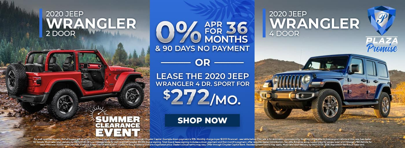 Jeep Wrangler Summer Clearance Event in Inverness FL